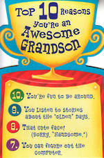 Grandson Birthday Card Hallmark Top 10 Reasons