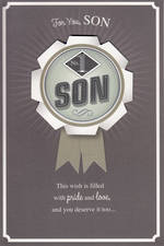 Son Birthday Card: Medal