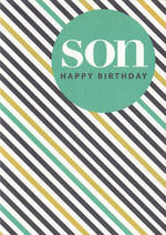 Son Birthday Card: Hallmark Stripes