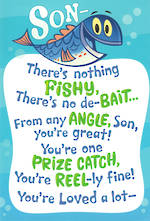 Son Birthday Card Hallmark Fishy
