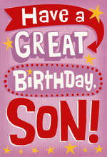 Son Birthday Card Hallmark Large Great