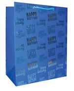 Large Gift Bag Premium Blue Hallmark
