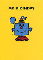 Kids' Birthday Card: Mr Men Mr Birthday