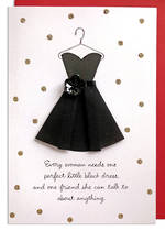 Hallmark Signature Birthday Female Black Dress