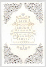 Wedding Card Signature Live Laugh Love