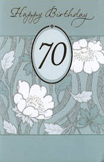 Birthday Age Card 70 Female White Flowers