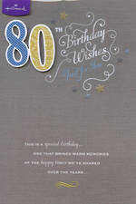 Age Card 80 Male Birthday Wishes