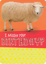Belated Birthday Card: Hallmark Sheep