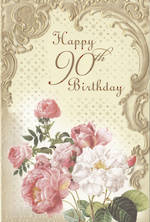 Age Card 90 Female Formal Flowers