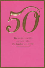 Age Card 50 Female Birthday Shine