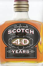 Age Card 40 Male Scotch Bottle