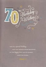 Birthday Age Card 70 Male Wishes