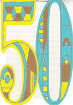 Birthday Age Card 50 Male Diecut