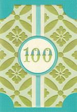 Birthday Age Card 100 Female Hallmark Large Pattern