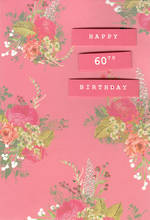 Birthday Age Card 60 Female Roses