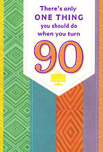 Birthday Age Card 90 Female Patterns
