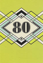 Birthday Age Card 80 Male Hallmark Geometric