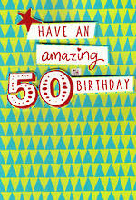 Birthday Age Card 50 Male Amazing