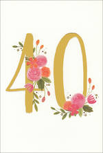 Birthday Age Card 40 Hallmark Female Gold