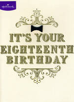 Birthday Age Card 18 Male Black Tie