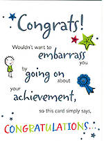 Congratulations Card General Juvenile