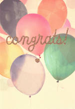Congratulations Card Hallmark Balloon