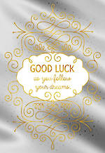 Good Luck Card Hallmark Silver Foil