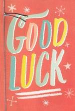 Good Luck Card Hallmark Text Stars