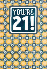 Birthday Age Card 21 Male Circles