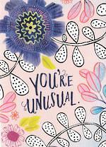 Hallmark Studio Ink Floral Unusual