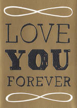 Hallmark Studio Ink Black & Gold Foil Love You