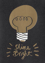 Hallmark Studio Ink Black & Gold Foil Lightbulb