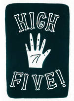 Hallmark Studio Ink Foil High Five