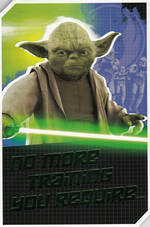 Birthday Card Star Wars Yoda Buildable