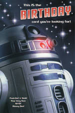 Birthday Card Star Wars R2-D2 Buildable
