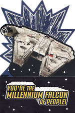 Birthday Card Star Wars Episode VIII Millenium Falcon