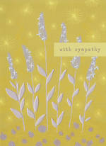 Sympathy Card Purple Reeds