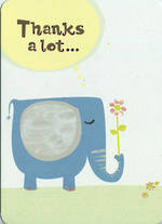 Thank You Card Thanks Elephant