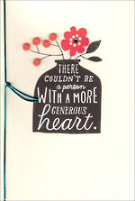 Thank You Card Hallmark Heart Vase