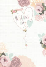Wedding Card Hallmark Heart And Flowers