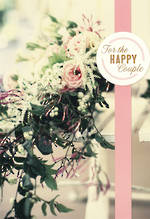 Wedding Card Hallmark Happy Couple Flowers