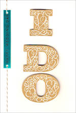 Wedding Card Hallmark I Do Text