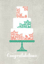 Wedding Card Hallmark Congrats Cake