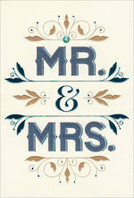 Wedding Card Hallmark Mr & Mrs