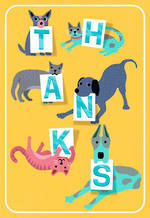 Thank You Card Hallmark Woof & Purr Letters