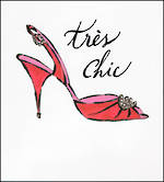 Blank Card: Jadore - Tres Chic Red Shoe