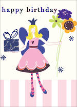 Mini Card Happy Birthday Fairy