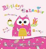 Birthdays Calendar Pink Owl