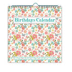 Birthdays Calendar Peach Floral