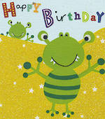 Mini Card Happy Birthday Aliens